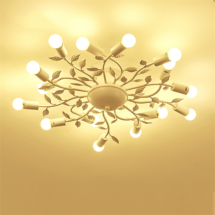 Modern Lights Iron LED Ceiling Lights Glass Hanging lamp Bedroom Living Room Restaurant Hotel Rooms De Fixtures Luminaire lustre in Ceiling Lights from Lights Lighting