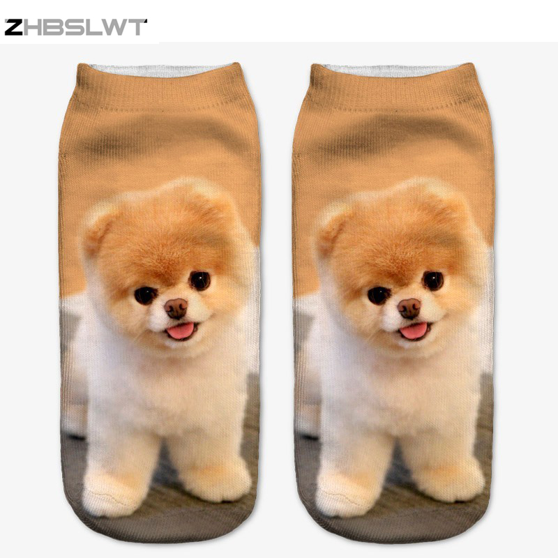 ZHBSLWT 3D Printed Socks Women New Unisex Cute Low Cut Ankle Socks Multiple Colors Women Sock Women's Casual Animal Shape Socks