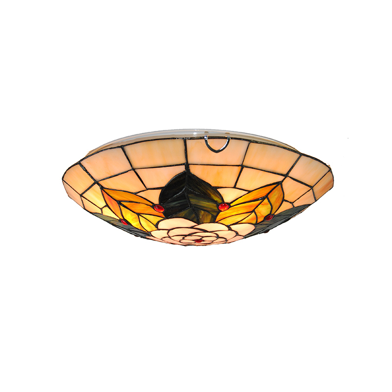 16 Mediterranean Tiffany Stained Glass Ceiling Lights Flower Pattern Suspension Lamp Kitchen Dining Room Bedroom Fixture CL273