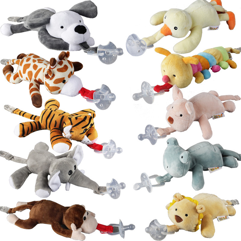 Baby Boy Girl Dummy Pacifier Chain Clip Plush Animal Toys Soother Nipples Holder (not include Pacifier)