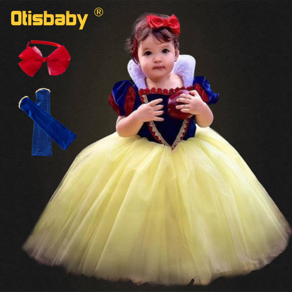 Princess Party Fancy Dress Cape Toddler Kids Girls Dresses Costume Snow Xmas