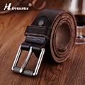 HIMUNU 2016 100% Genuine Leather Men Belt New Fashion Soft Casual Vintage Men Belt Pin Buckle Designer Belt Men Handcrafted