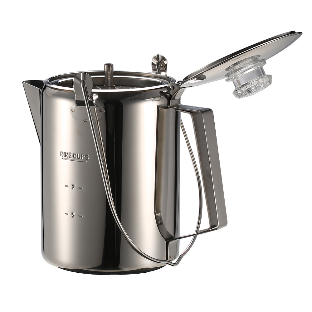 Image 2 - Outdoor 9 Cup Stainless Steel Kettle Milk Coffee Mug Portable Backpacking Pot Cooking Pots Outdoor Camping Hiking Tableware-in Outdoor Tablewares from Sports & Entertainment