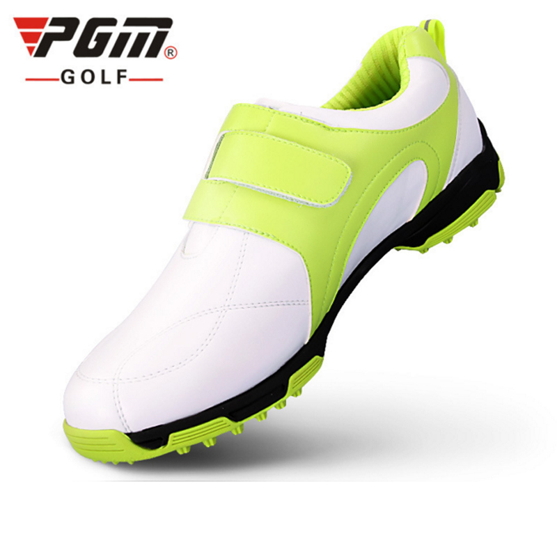 PGM Golf Shoes For Men PU Waterproof Sport Shoes Plus Size 39-45 Athletic Shoes Breathable Male Golf Sgoes Sapatos De Golfe pgm men golf shoes breathable athletic sneaker plus size 39 46 mesh sport shoes pu waterproof professional golf shoes for men