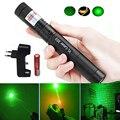 303 зеленая лазерная указка dot 532nm 5mW 303 лазерная ручка Регулируемая мощная Звездная головка горящая спичка с батареей 18650 + зарядное устройств...