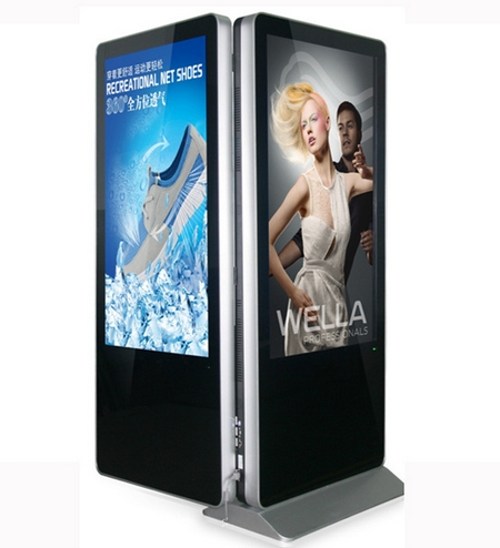 55'' 65 Inch Advertising Hd Lcd Display Double Panel Dual Lcd Digital Signage Kiosk Video Players DIY Cp