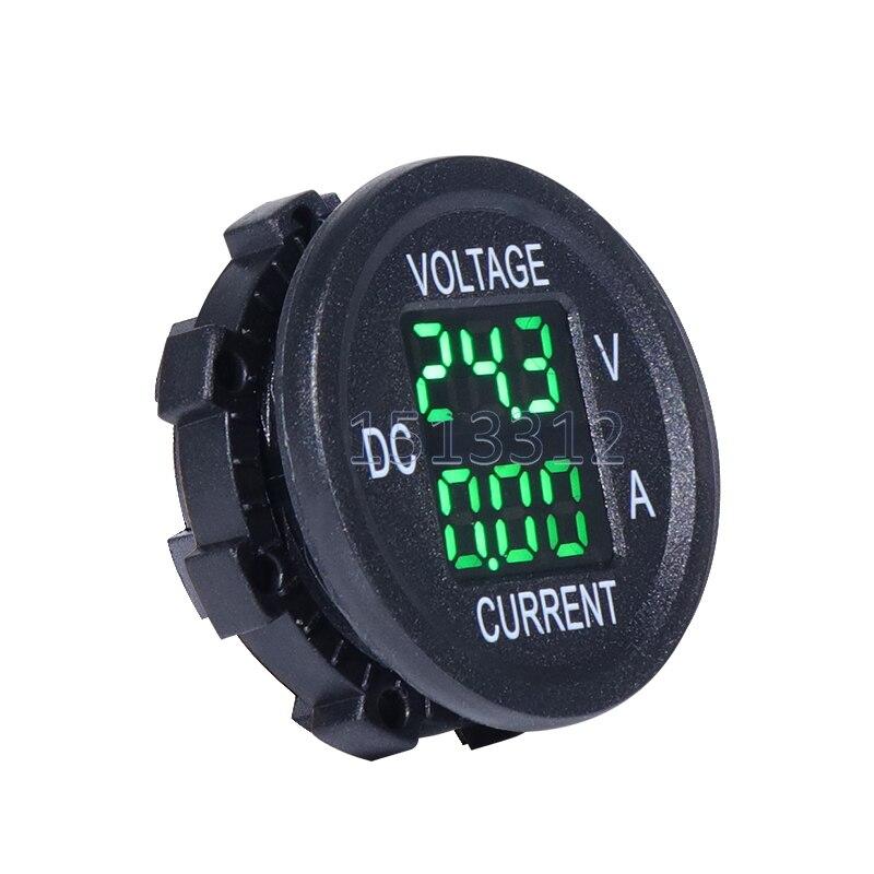 LED étanche voltmètre numérique ampèremètre Auto rond voltmètre tension courant compteur testeur jauge pour voiture bateau moto