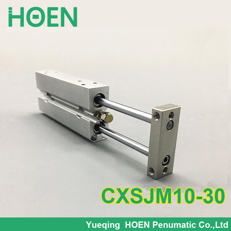High quality CXSJ series CXSJM10-30 bore 10mm stroke 30mm slide bearing compact air cylinder dual rod air cylinder CXSJM10*30 cxsm32 30 high quality double acting dual rod piston air pneumatic cylinder cxsm 32 30 32mm bore 30mm stroke with slide bearing