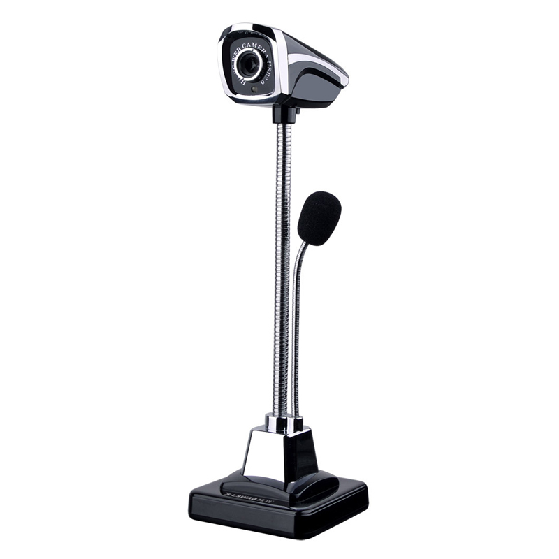 Removable HD Webcam for Computer PC Laptop with Microphone with Standing Base and Flexible Studdle Foldable Computer Camera CZ01