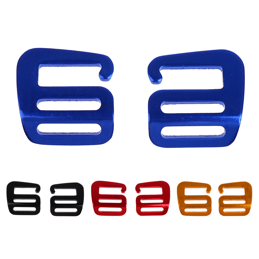 1 Pair G Hook Outdoor Webbing Buckle For Backpack Strap 25mm Quick Release Belts Shoes Bags Fasteners D Ring Accessories