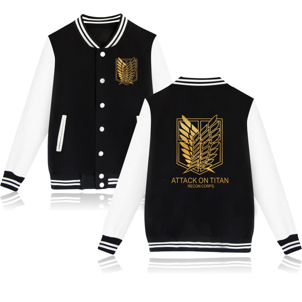 Image 2 - 2019 Attack on Titan anime Baseball Jacket streetwear Coat casual trackusuit mens coats and jackets plus size boys clothes-in Anime Costumes from Novelty & Special Use