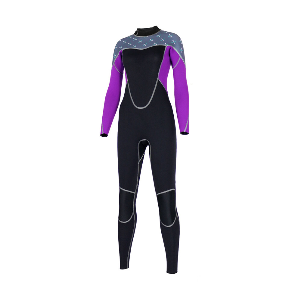 SLINX 2mm Women Wetsuit Neoprene Long-sleeved Female Keep Warm Full Body Scuba Surfing Wetsuits Patchwork Diving Suit Swimsuit sbart professional 2mm men short sleeved wetsuit zipper one piece rash guard wetsuits neoprene scuba diving warm wetsuits