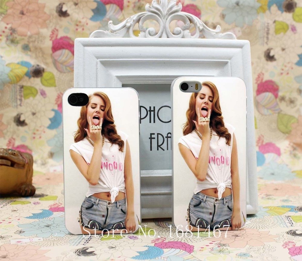 Gesture Love American Pop Singer Lana Del Rey Hard Clear Skin Case Cover for iPhone 4 4s 7 7 Plus 5 5s 5g 1PC