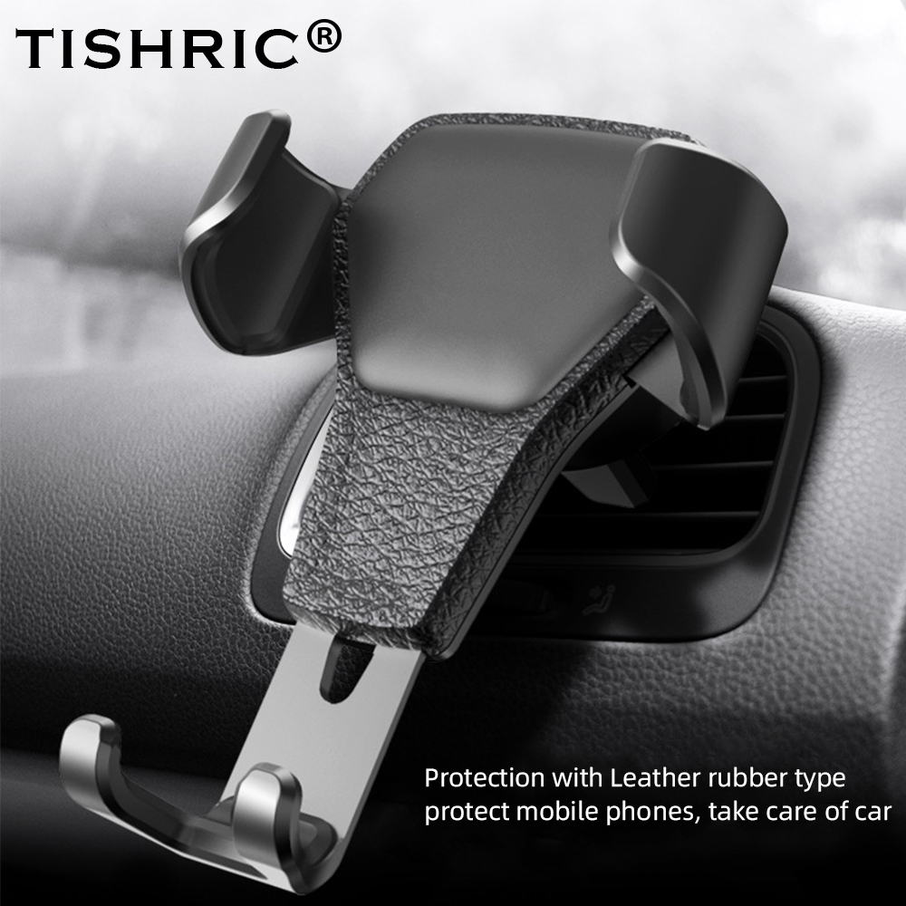 TISHRIC Universal Car Phone Holder Gravity Air Vent Stand Mount Clip Car Holder No Magnetic for