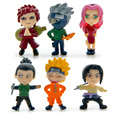 6Pcs/set  Naruto action figures dolls toys lot 2016 New PVC Anime Naruto Gaara   pain figurines with weapon armas accessories