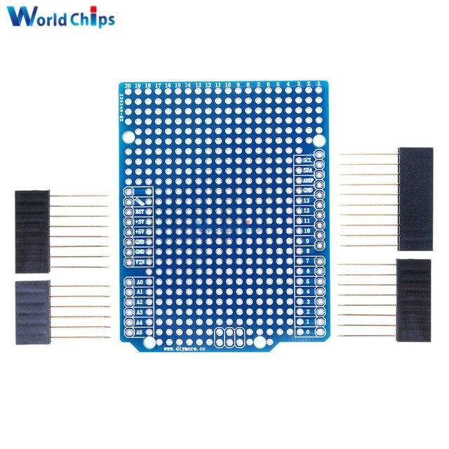 PCB prototipo placa de expansión para Arduino ATMEGA328P UNO R3 escudo FR-4 de fibra de PCB Placa de 2mm de 2,54mm con pines DIY uno