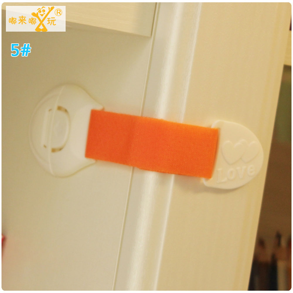 Замок холодильника блокирующий замок для шкафа Детские Детская безопасность замок ABS ящики уход за младенцем дома Творческий холодильник для детей - Цвет: orange