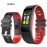 10pcs DHL i6 HR C Heart Rate Smart Bracelets Band Sports Fitness Activity Tracker Waterproof Color LED Display Wristband