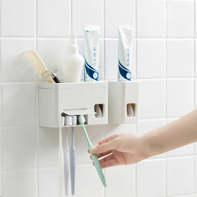 Hot New Toothpaste Tube Squeezer Automatic Auto Squeezer Toothpaste Dispenser Hands Free Squeeze Out      G604