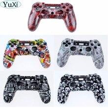 Передний + задний корпус под заказ, корпус, крышка, внутренний держатель для ремонта верхней части под кожу для контроллера Sony Playstation 4 PS4, геймпад