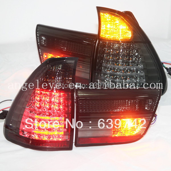 For BMW X5 E53 LED Tail Lights Rear Lamp  back light 1998--2006 year Smoke Black color casio casio ltp 1363d 4a