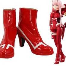 Darling in the Franxx Zero Two Code 002 Cosplay Boots Red Sh