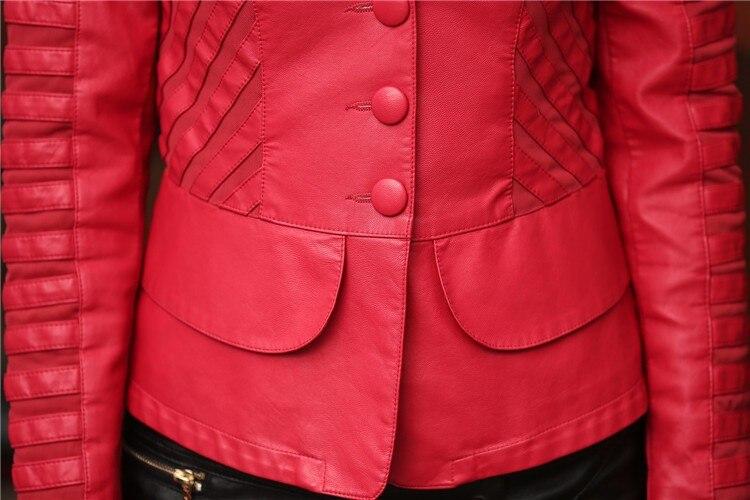 Горячая Распродажа! M L XL XXL XXXL XXXXL новая осенняя женская кожаная куртка размера плюс, женская верхняя одежда, брендовые куртки из искусственной кожи A0313