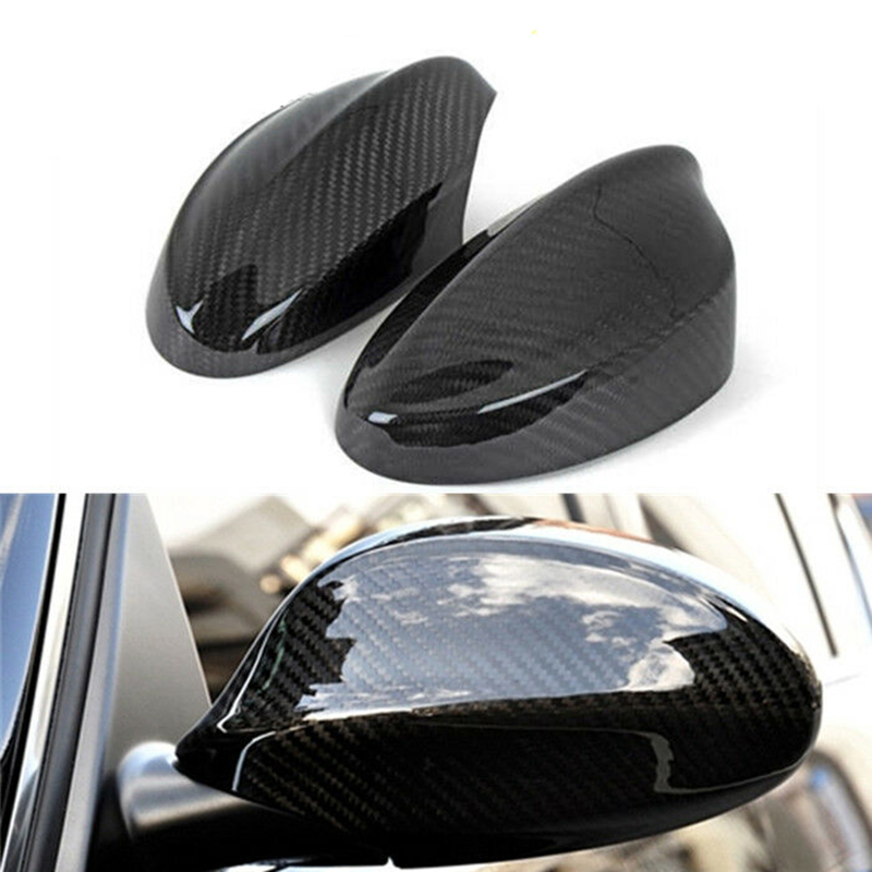 Carbon Fiber Mirror Cover Caps Fit For BMW 3 Series Sedan E90 E91 330i 335i Pre LCI 2005 2006 2007 2008 Car accessories