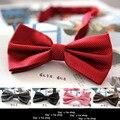 Envío Gratis 20 Colores Sólidos Pajaritas Moda Novio Hombres Colorido A Cuadros pajaritas Corbata gravata Hombre Matrimonio Boda de La Mariposa