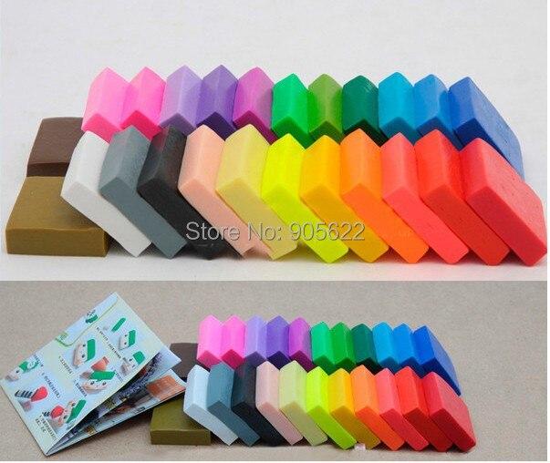Kinderen speelgoed plasticine oven bak fimo klei 24pc / lot kleur - Leren en onderwijs
