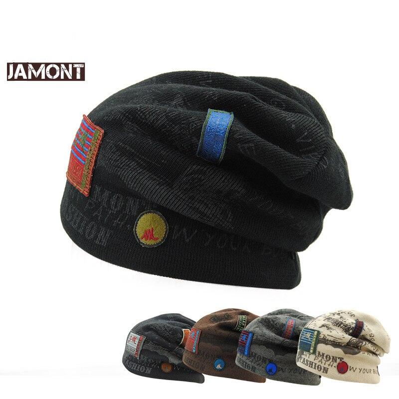 Fashion Knit Hat Winter Men's Shawl Hat Skullies Warm Hat Velvet Interior Fashion Winter Hat Headdress Gorras # wo11