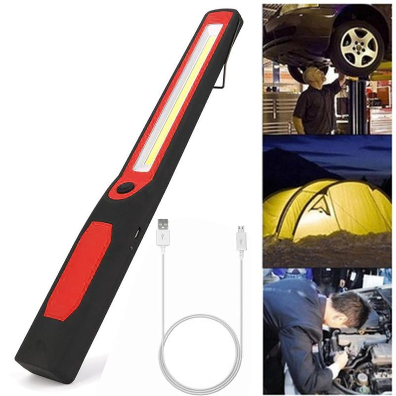 Home LED Work Light 2in1 Rechargeable LED COB Camping Work Inspection Light Lamp Hand Torch Magnetic apr26