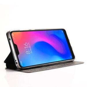 Image 5 - Xiaomi Mi A2 Lite 커버 용 Mofi 가죽 플립 케이스 Smart Week 수면 쉘 전체 보호기 Xiomi 128gb xaomi 64gb Funda Matte Capa