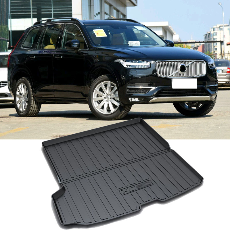 For Volvo XC90 2016 2018 Black Trunk Cargo Floor Mat Cargo Pad Floor Tray Liner Car Styling Accessories 1pcs    1