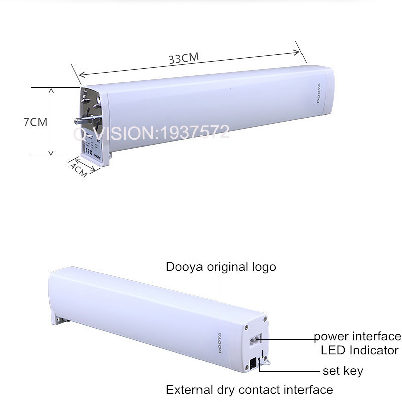 Original Dooya DT82TN Electric Curtain DC Motor+DC2700 Remote Controller,Automatic Electric Curtain Motor 110-240V Smart Home-2