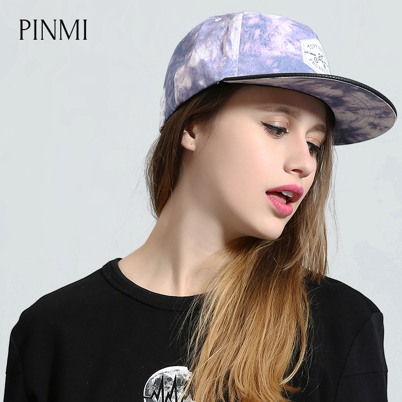 PINMI Graffiti Art Baseball Cap Women Colorful Rap Unisex Hip Hop Caps Men High Quality Design Street Skateboard Hat Flat Hats