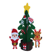 New Year Christmas Decor For Home Natal Christmas Decorations Navidad Baubles DIY Christmas Tree Santa Claus Elk With Lights(China)