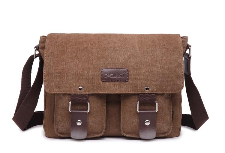 e2e50fec13c1 Large capacity Canvas Shoulder Bag Laptop School Bag Messenger Crossbody Bag  Cheap Handbag