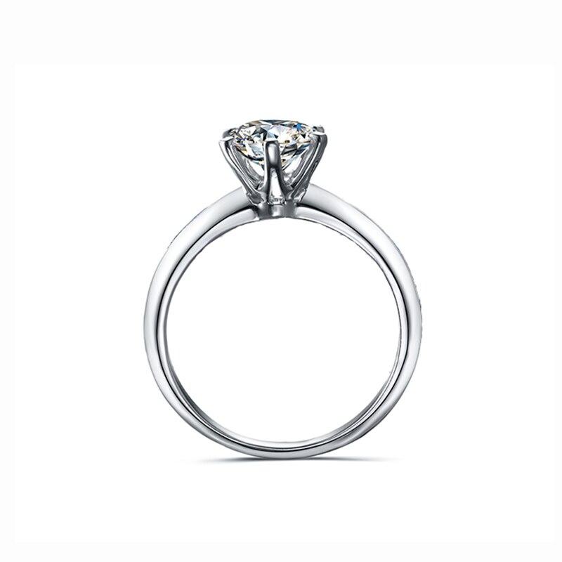 925 bague en argent sterling 1ct 2ct 3ct style classique bijoux en diamant Moissanite anneau de mariage fête anniversaire bague pour les femmes - 3