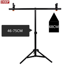 Photo Studio Kit 75cm T- Frame PVC Backdrop Background Small Support Stand System Metal adjustable equipment props screen drops