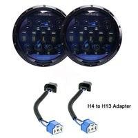 VEMIKYSION 1 пара 130 Вт яркие синий объектив проектора 7 дюймов светодиодный фары янтарные поворота/DRL для Jeep Wrangler JK LJ TJ CJ