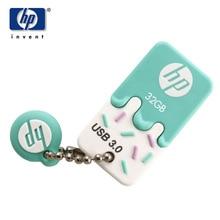 2017 Usb 3.0 Pendrive Usb Stick HP X778w 32GB Usb Flash Drive Cartoon Cle Fashion Ice Cream Mini Memory Disk For Car musica MP3