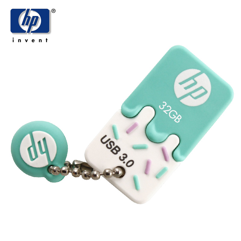 2017 USB Flash Drive 32GB 3.0 Pendrive USB Stick HP X778w Cartoon Cle Fashion Ice Mini Memory USB Bilstereo mp3 För tjejer