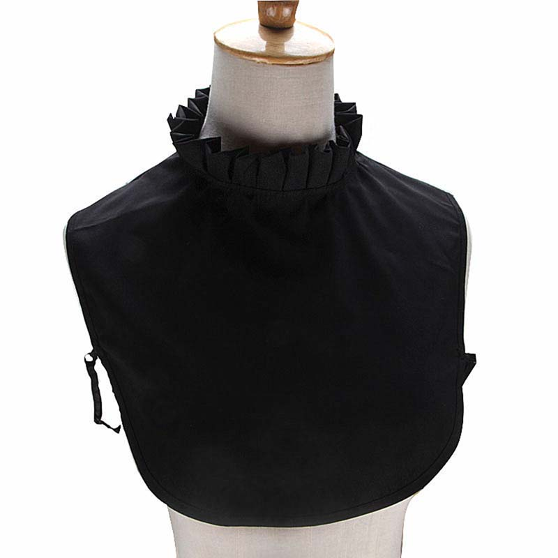 2019 New Pleated Black White Pink Half-high Collar Stand-up Detachable Fake Tie Women's Clothing Accessories
