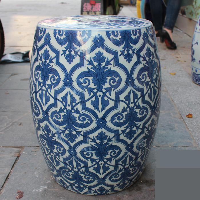 High Quality Jingdezhen Ceramic Stool Hand Painted Round