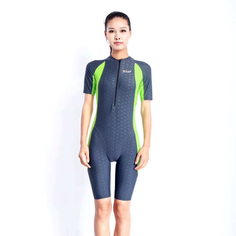 d0fec32cef HXBYswimsuit competition swimsuits knee length female swimwear women arena  swimming competitive plus size racing suit shark NEW-in Body Suits from  Sports ...