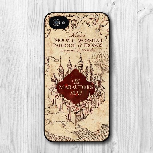 separation shoes 694f0 46655 US $9.99  Marauders Map Harry Potter Phone Case For iPhone 4 4s 4g  Protective Cover, Black And White Side Is Available ( Free Shipping ) on ...