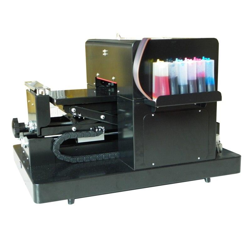 2017 Nuovo Aggiornamento A4 Stampante Flatbed per la Stampa T shirt Penna con stampante flatbed formato A4 di Alta qualità Cassa Del Telefono