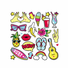Fashion Iron-On Transfer Summer Fruits Easy Print By Household Irons Parches Ropa T-Shirt Diy Decoration 2018 New Appliques майка print bar summer fruits