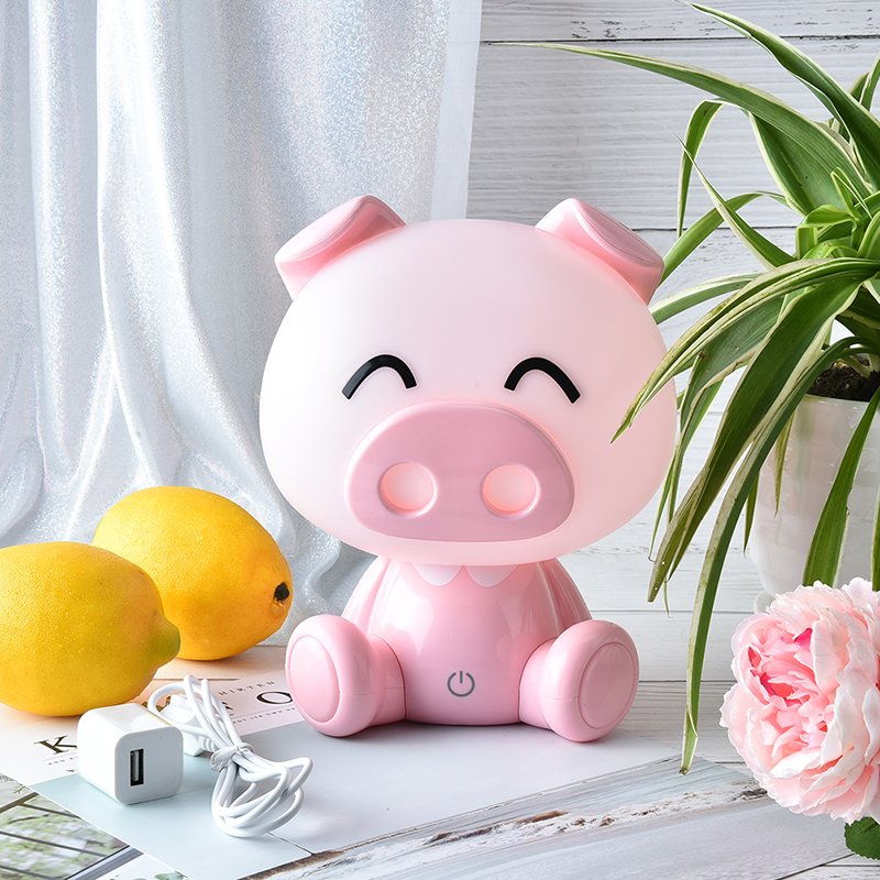 Touch Pig Lights Cute Baby Bedroom Lamp Night Light LED Night Lamp Bedside Decor Kids Desk Light Christmas Gift Valentine's Day